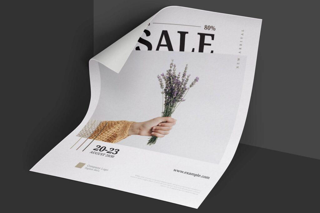 简约商业活动传单模板素材下载Clean and minimal Fashion Event Flyer Poster插图(5)