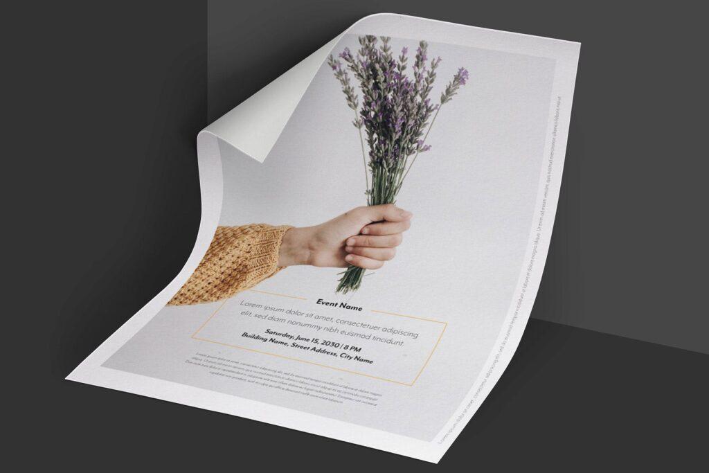 简约商业活动传单模板素材下载Clean and minimal Fashion Event Flyer Poster插图(2)