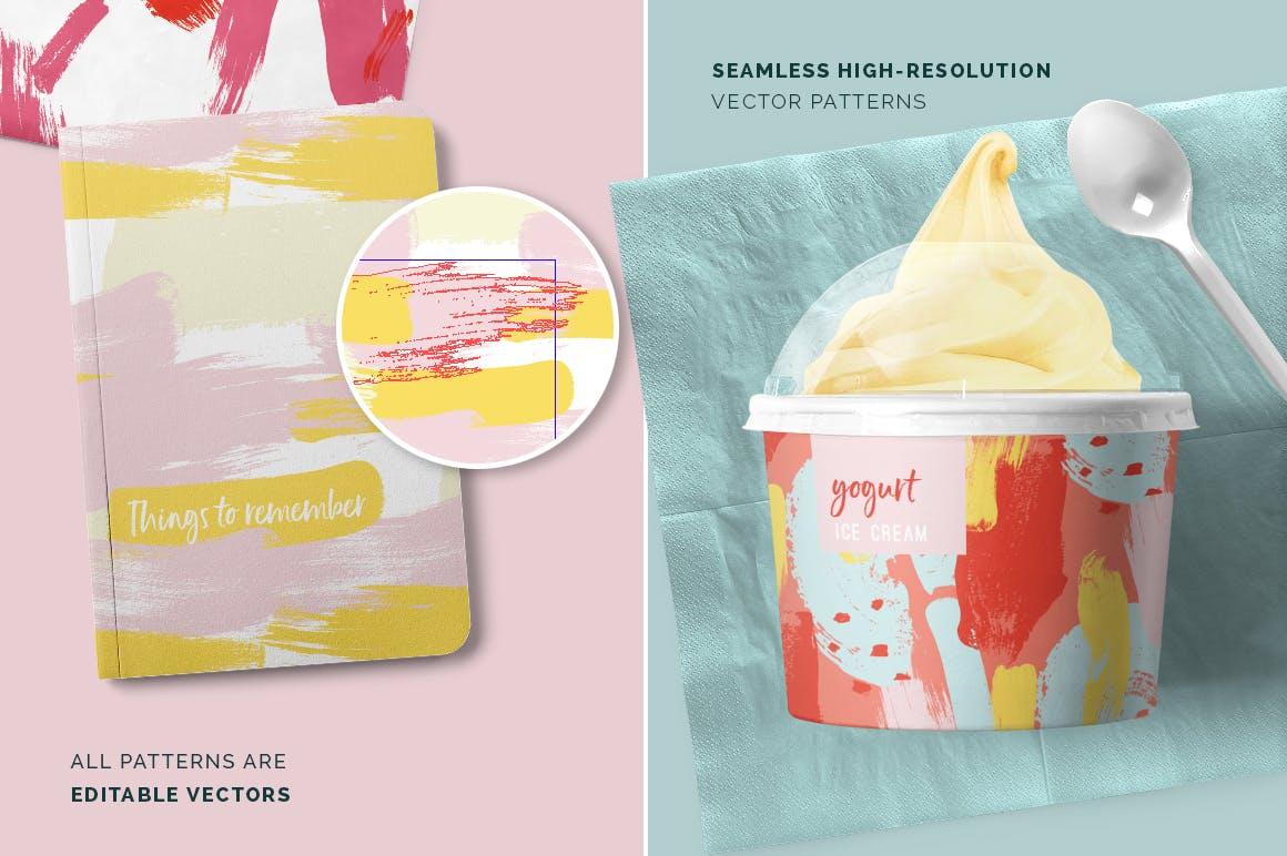 抽象图案多彩笔触纹理素材Color Splash Patterns插图(2)