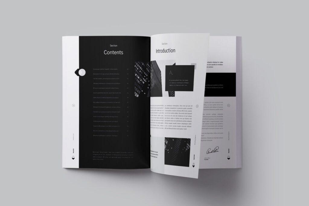 企业简介/产品介绍画册杂志模板素材Company Profile插图(2)