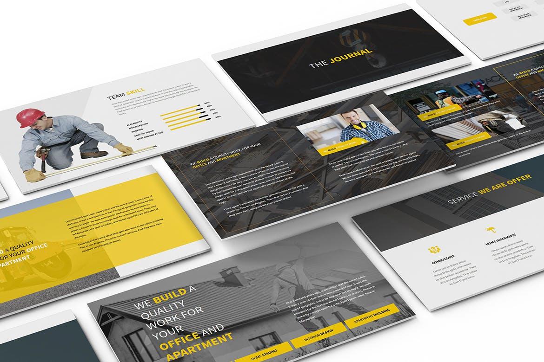 建筑行业团队介绍幻灯片模板展示Construction Powerpoint Presentation插图(2)