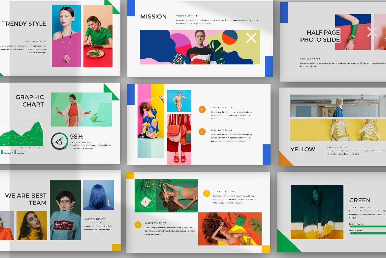 时尚品牌艺术配色创意版式PPT幻灯片模板DIVERSE Google Slide插图(2)