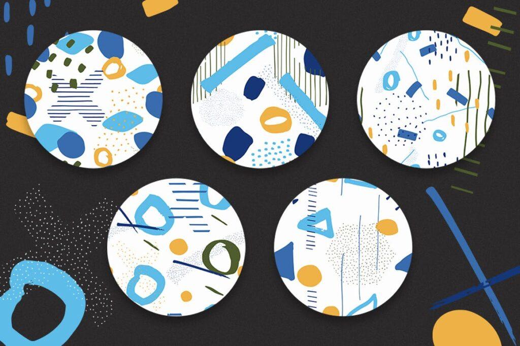 高端文艺企业品牌VI辅助图形装饰图案下载Delicious Patterns Pack Bonus插图(2)