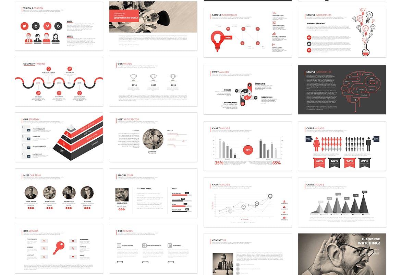 高端简洁企业现代主题演讲幻灯片模板下载Dukku Keynote插图(2)