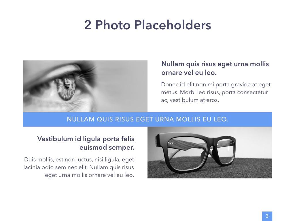 眼睛健康演讲活动PPT幻灯片模板Eye Health Keynote Template插图(2)