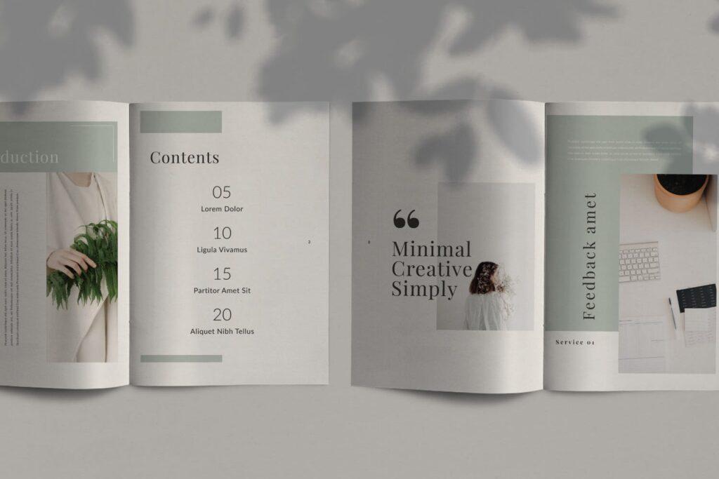 简约时尚工作室产品介绍主题画册模板Fairy Lookbook Brochure Business Company Xyuzvt6插图(2)