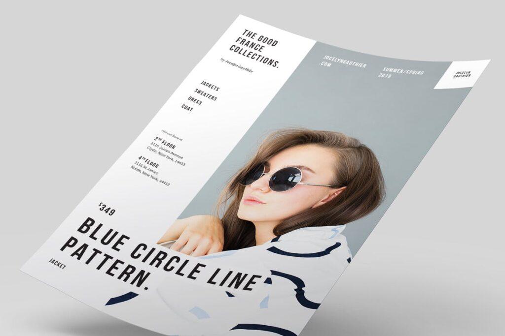 精致时装企业杂志画册模板素材Fashion Flyer Ptuvqe插图(2)