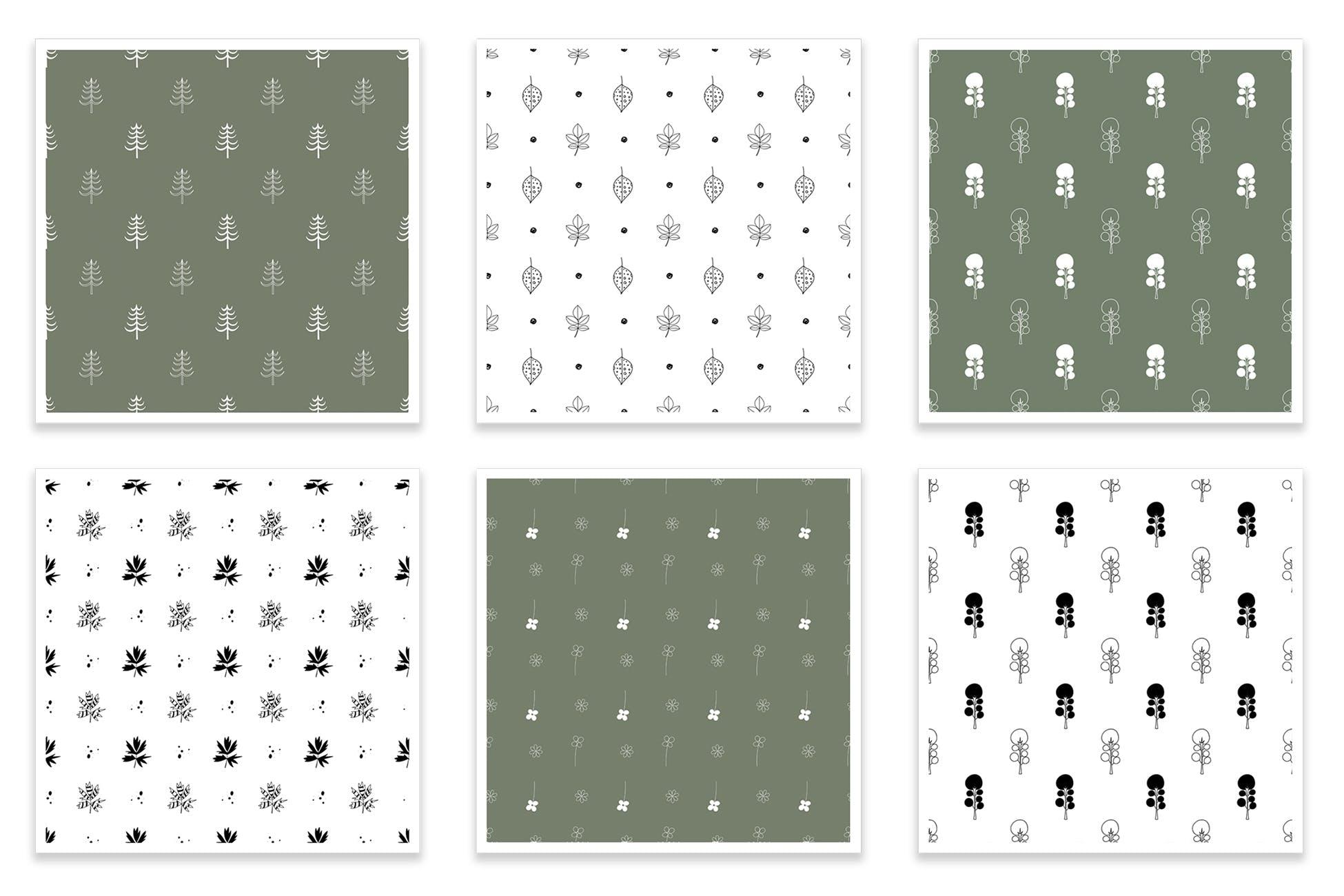 布艺创意装饰图案纹理素材下载Floral seamless patterns collection插图(2)