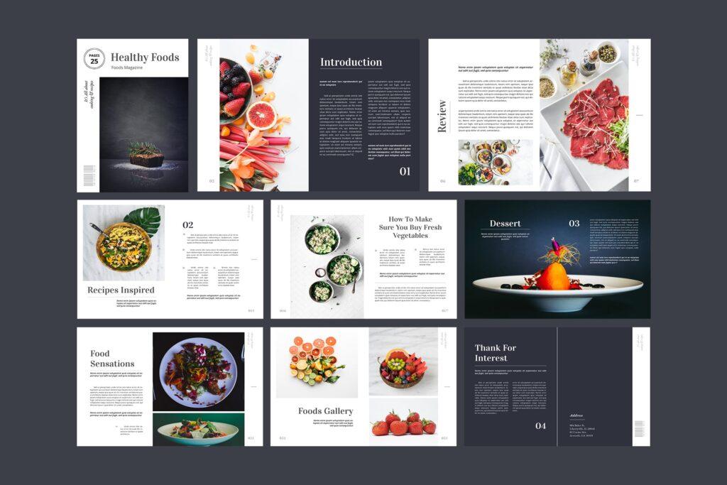 食品/餐饮类主题杂志模板Food Magazine Template Bdxvs4g插图(2)