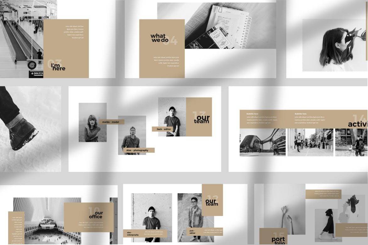 高端奢侈金色搭配企业演示PPT幻灯片模板下载Franco Keynote Template插图(2)