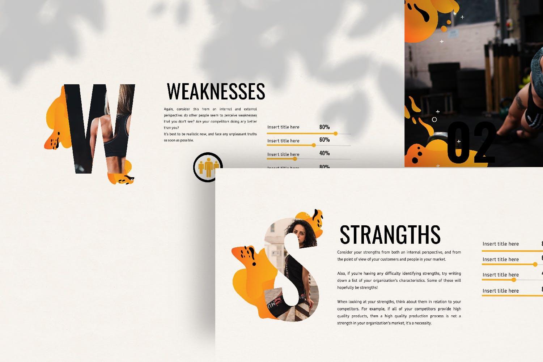 瑜伽健身主题宣讲PPT幻灯片模板GYM Google Slide插图(2)