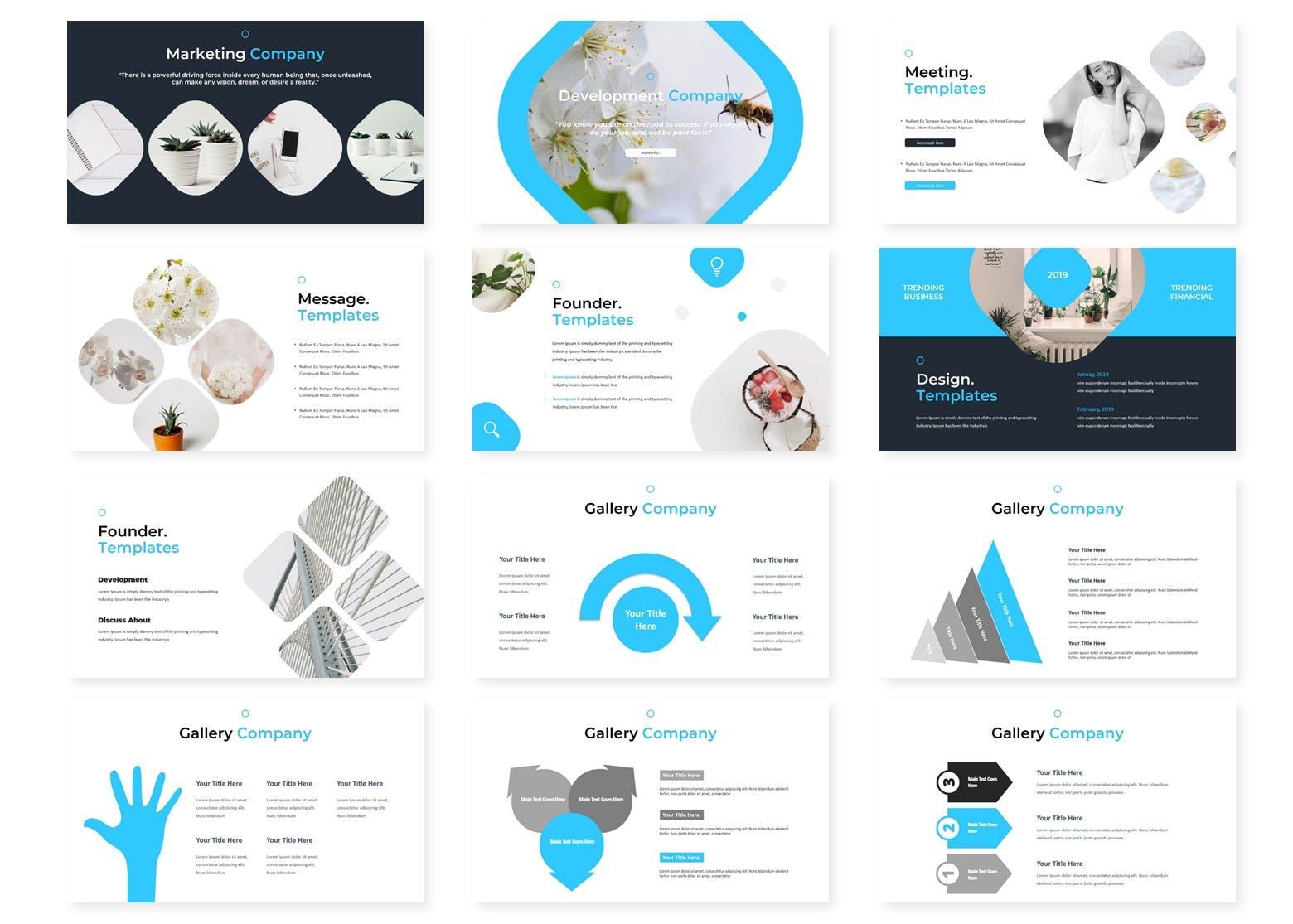 多用途行业企业策划模板PPT幻灯片模板Gandos Keynote Template插图(2)