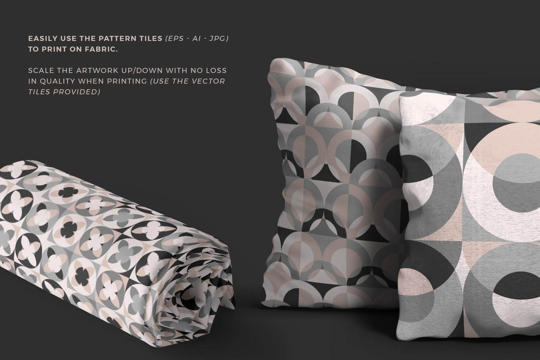 布艺面料装饰纹理图案花纹品牌辅助图形Geometric Play Patterns Tiles插图(2)