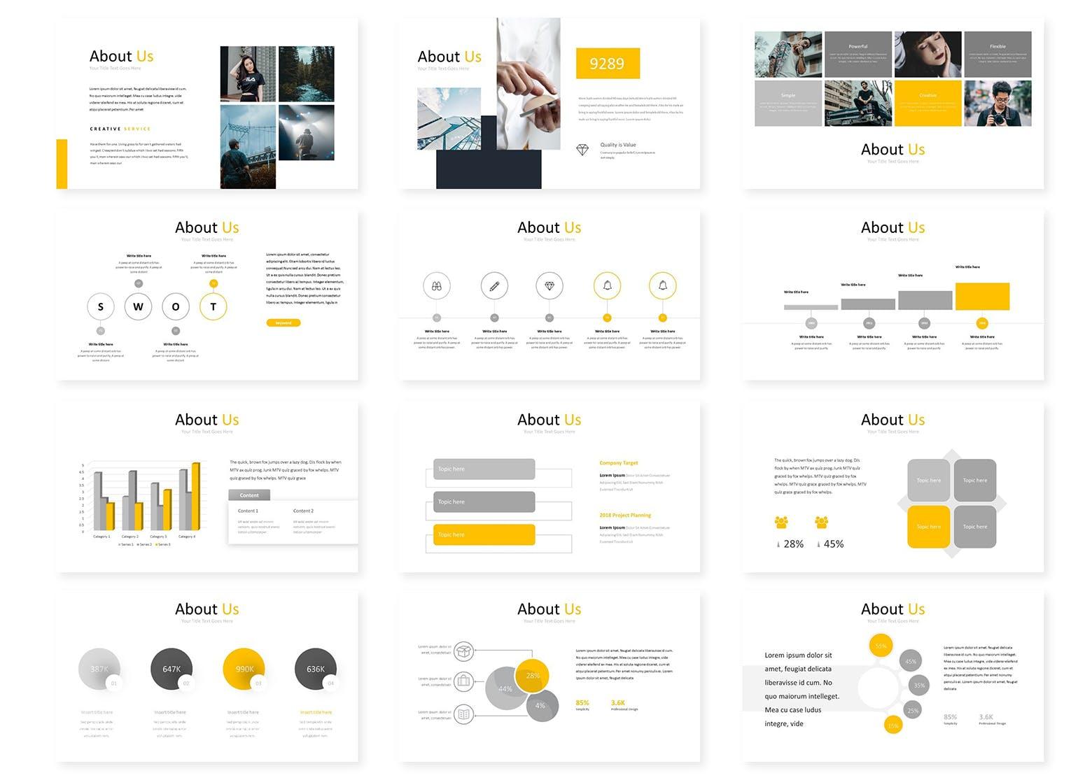 企业主题演讲PPT幻灯片模板Gord Google Slides Template插图(2)