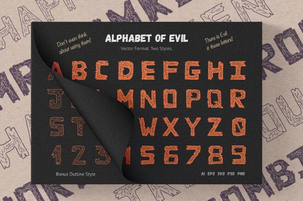 万圣节主题元素素材装饰图案纹理素材下载HaWe Halloween Vector Toolkit插图(2)