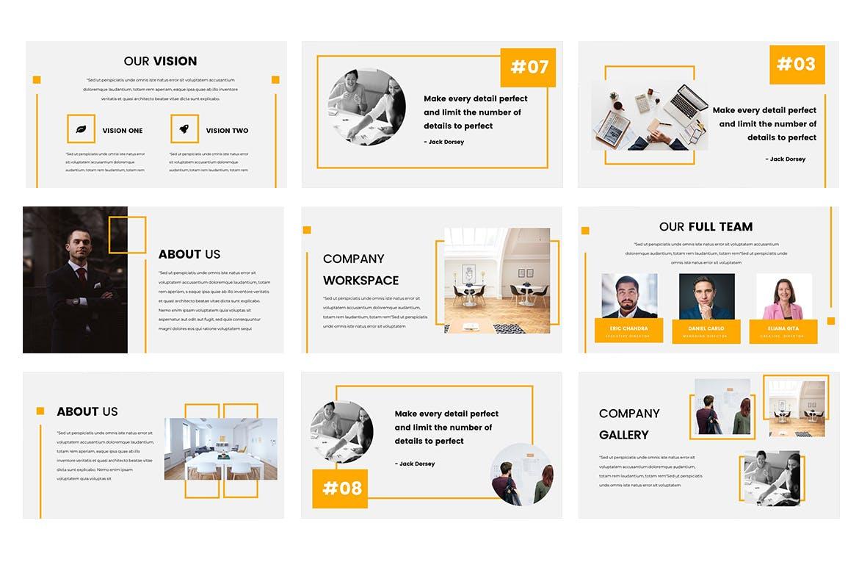 房地产公司活动策划PPT幻灯片模板Hanna Google Slides Presentation插图(2)