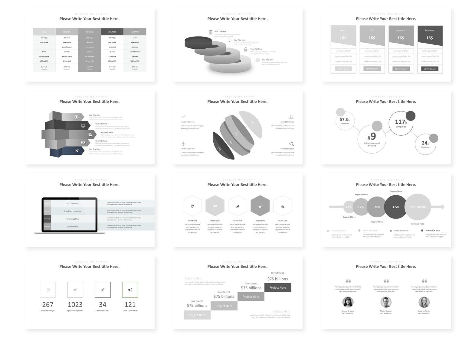 多用途企业业务演示PPT幻灯片模板Himense Google Slides Template插图(2)
