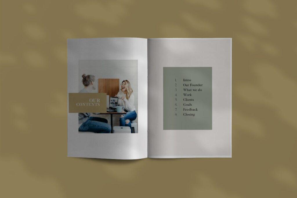 投资组合小册子模板设计师工作室内设计目录画册模板IMPALA Brochure Template插图(2)
