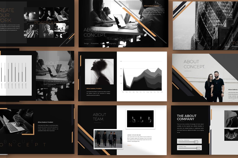 时尚品牌产品发布会PPT幻灯片模板IRISH Brown Keynote插图(2)