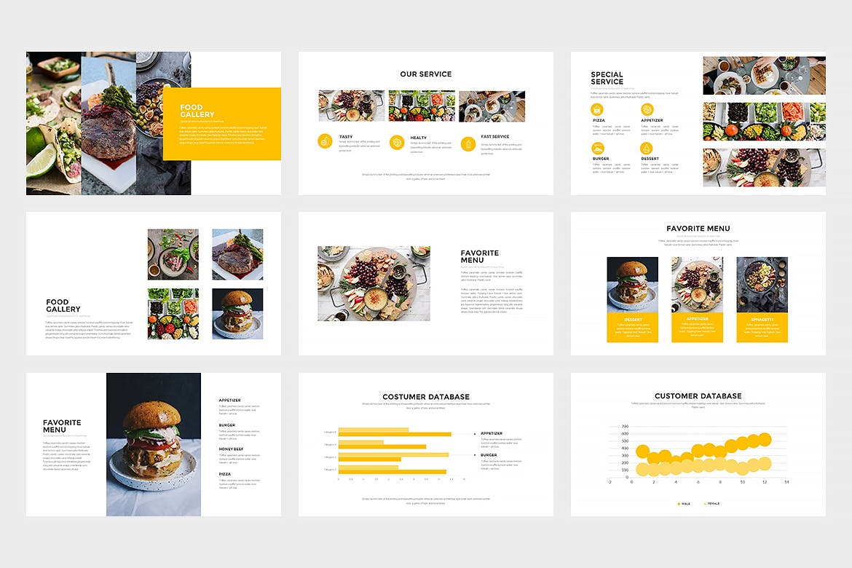 西餐美食料理主题餐厅品牌幻灯片模板Innodafood Keynote Presentation插图(2)