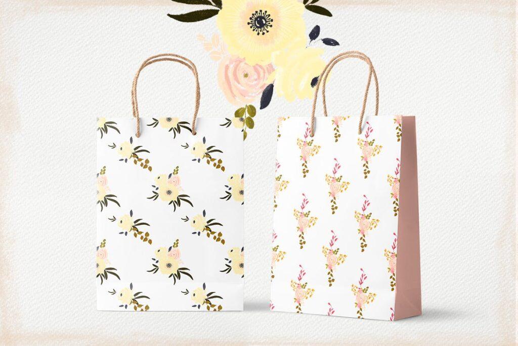 花卉手工剪纸装饰图案纹理June Flowers插图(2)