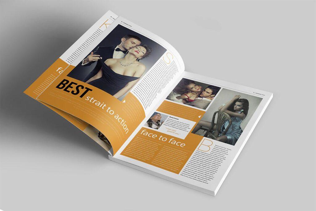 写真集/采访/画廊主题杂志模板下载Magazine Template 6N4PTQJ插图(2)