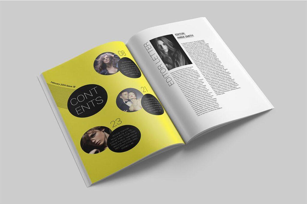 时尚潮流/画廊主题杂志模板Magazine Template SLCJBWR插图(2)