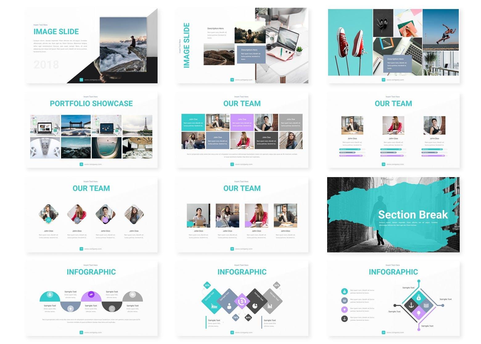 企业历史发展回顾主题演讲PPT幻灯片模板Meditera Keynote Template插图(2)