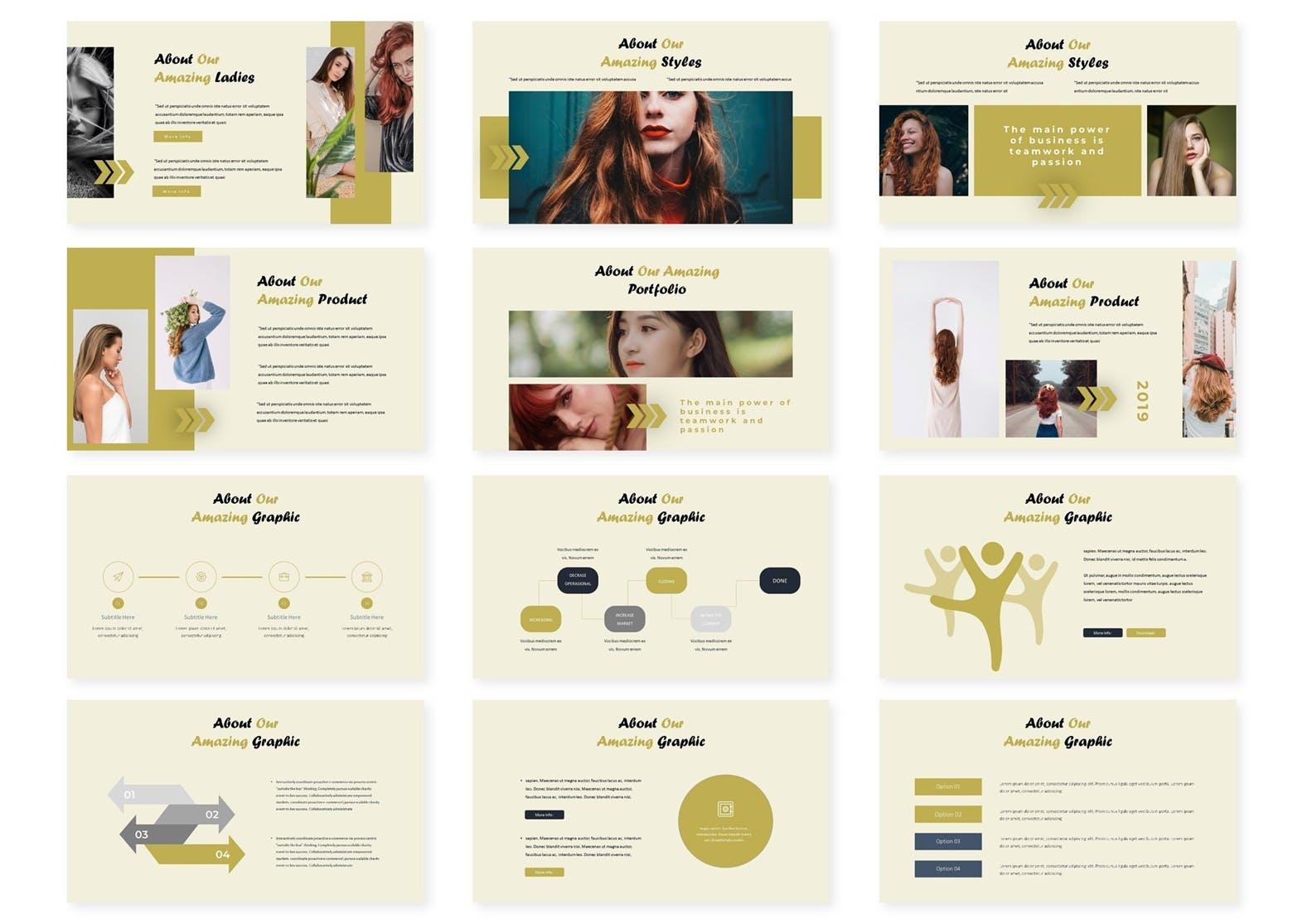 企业年度业绩报告分析汇报PPT幻灯片模板Moda Google Slides Template插图(2)