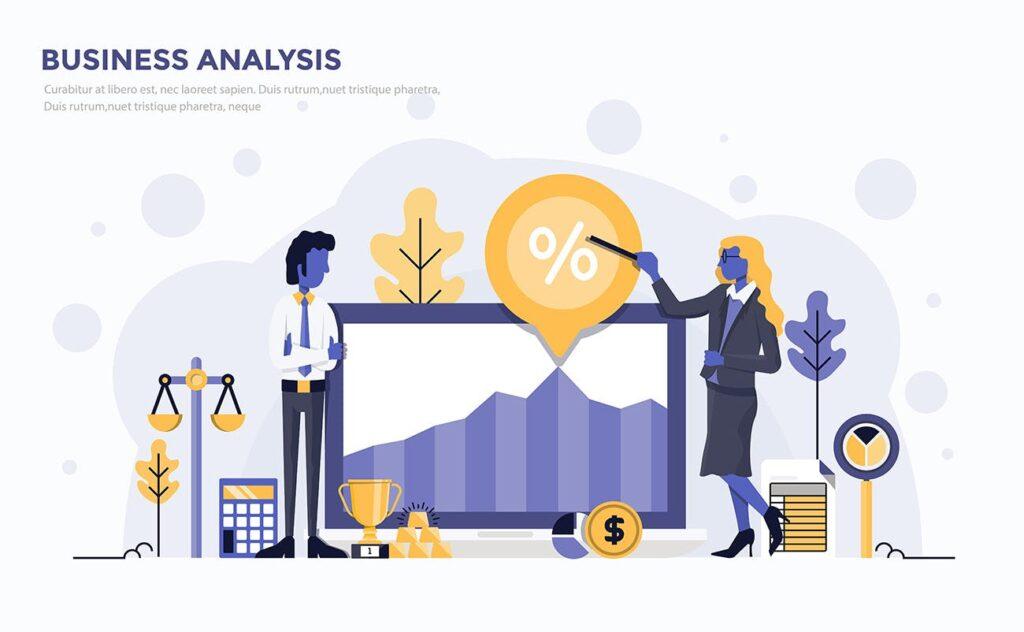 企业市场销售数据汇报场景插画素材下载Modern Flat design people and Business concepts Kxhba7插图(3)