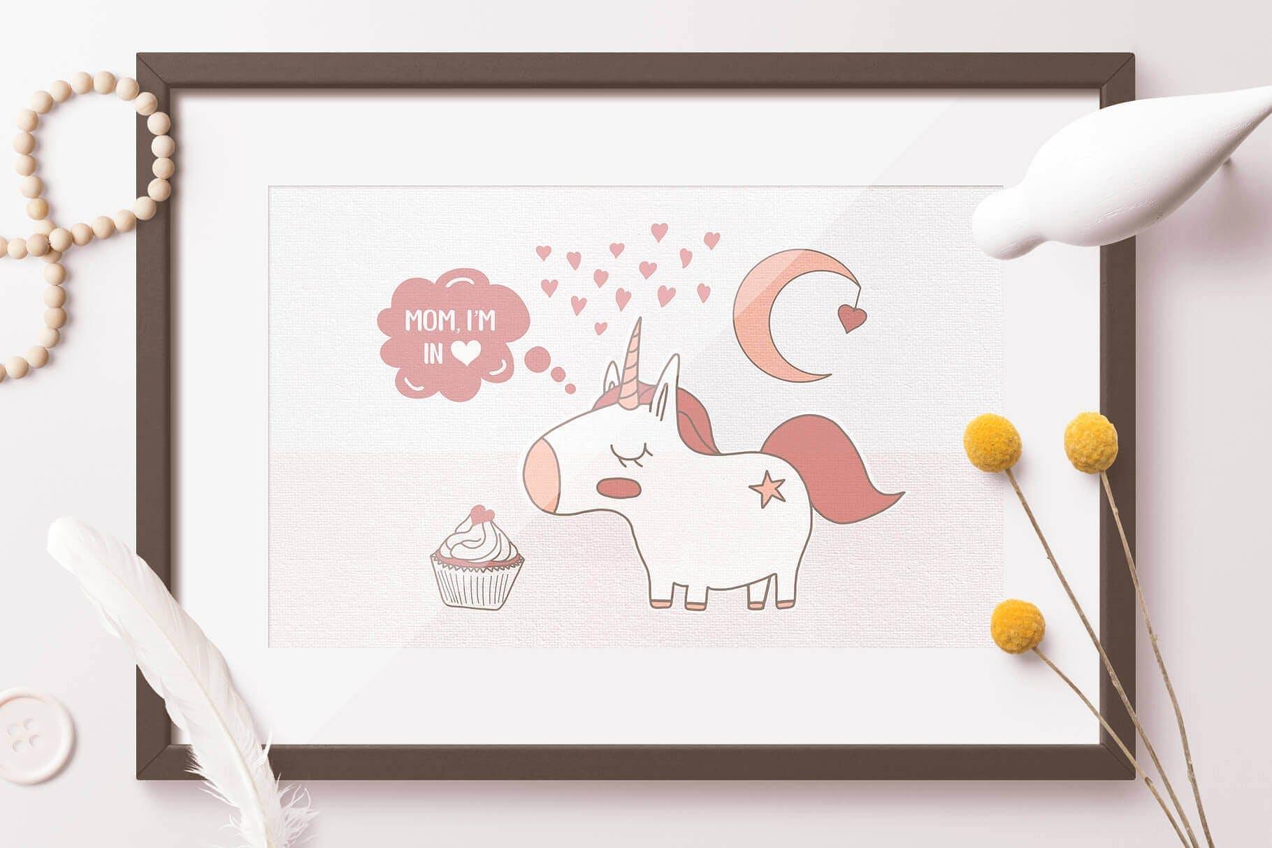 喜悦和甜蜜主题元素图形类别素材合集Mom I'm in Love Vector Set插图(2)