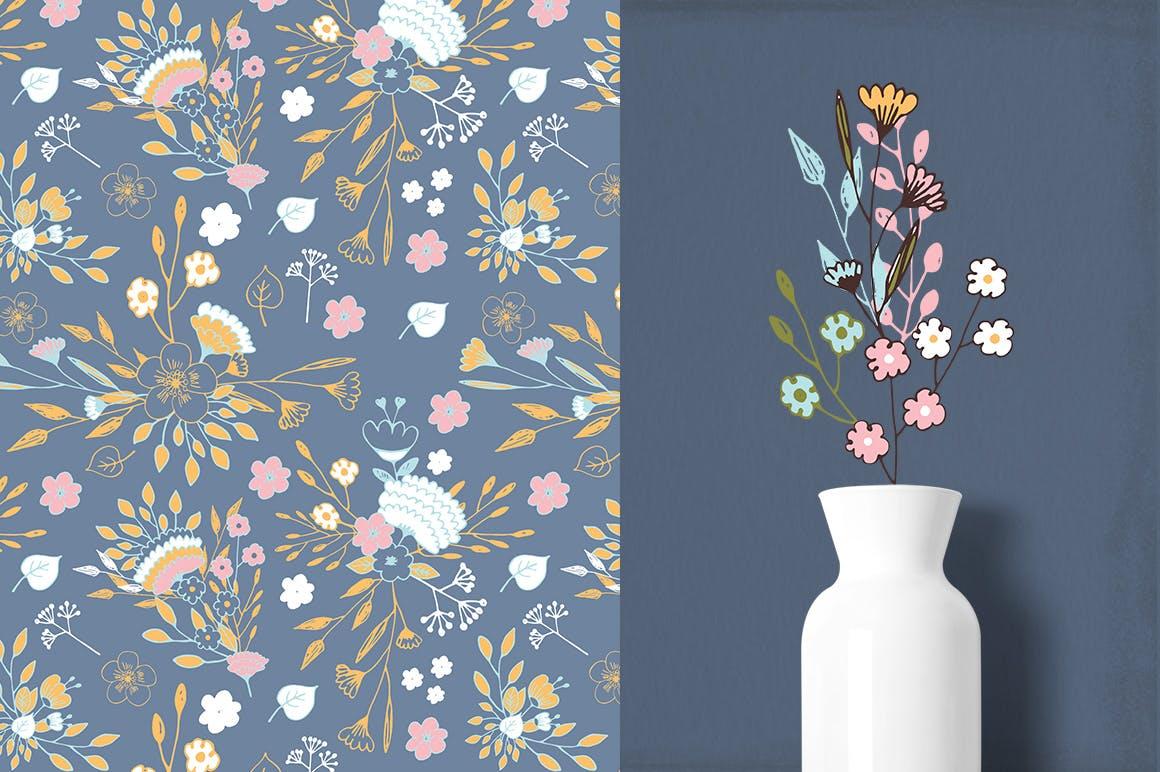 室内墙体装饰纹理素材装饰画Nice Flowers插图(2)