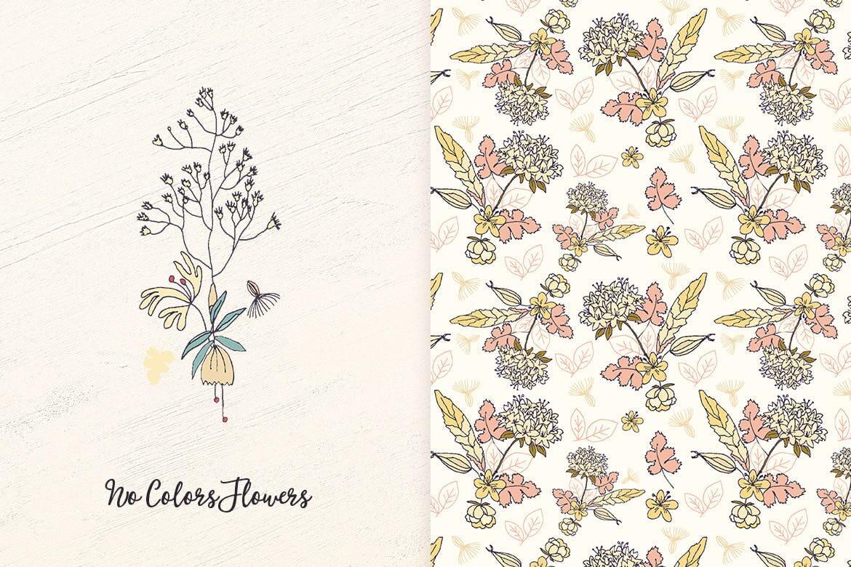 企业品牌纹理印刷装饰图案素材No Colors Flowers插图(2)