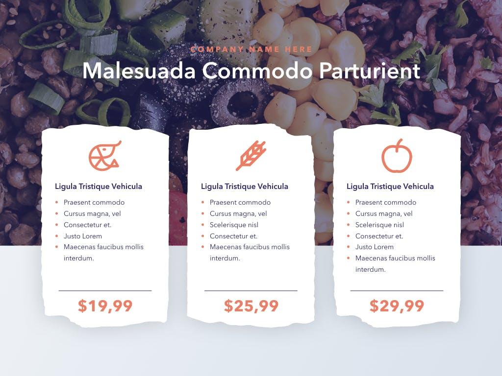 西餐料理品牌新菜品介绍PPT幻灯片模板Nutritious PowerPoint Template插图(2)