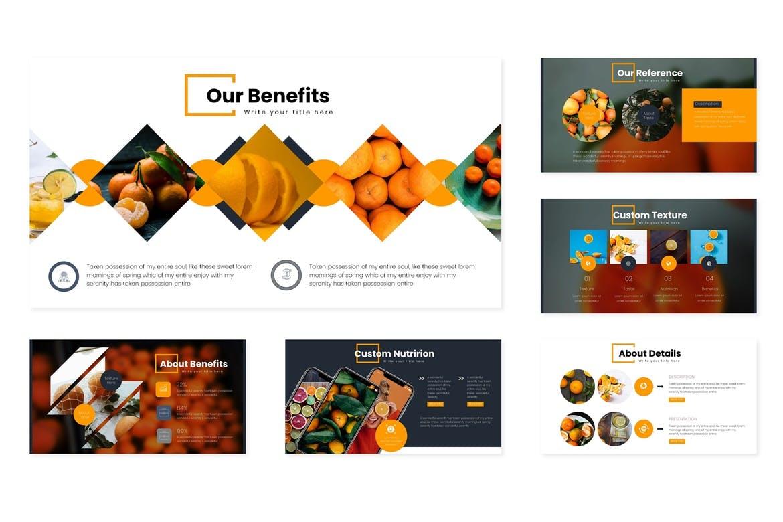 多用途演示模板宣讲主题演讲PPT幻灯片模板Oranges Google Slides Template插图(2)