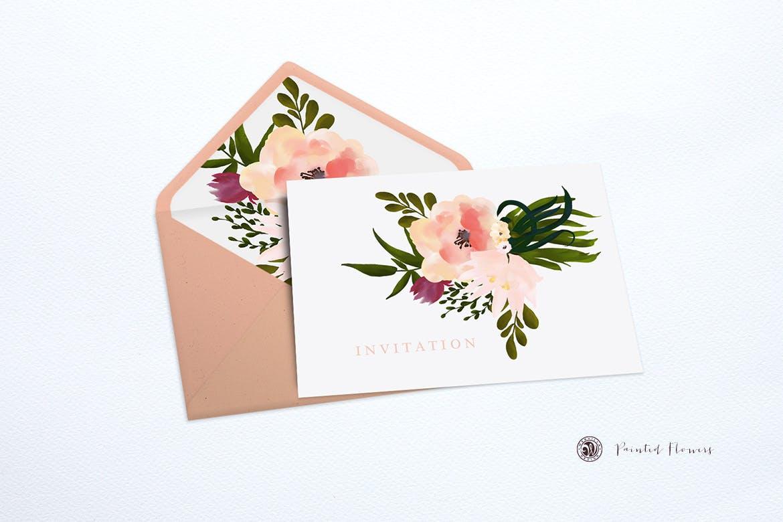 彩绘花卉品牌手提袋包装装饰图案素材Painted Flowers插图(2)