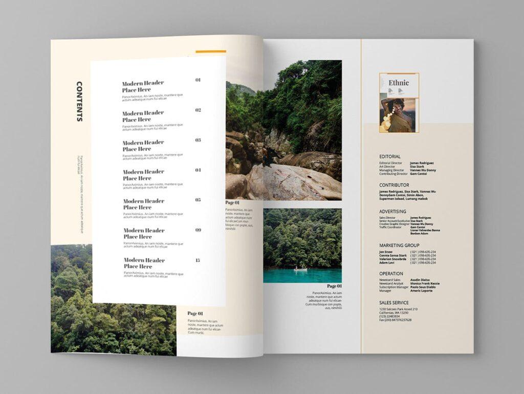 大自然主题/森林/旅游主题杂志模板Panorm Magazine Template插图(2)