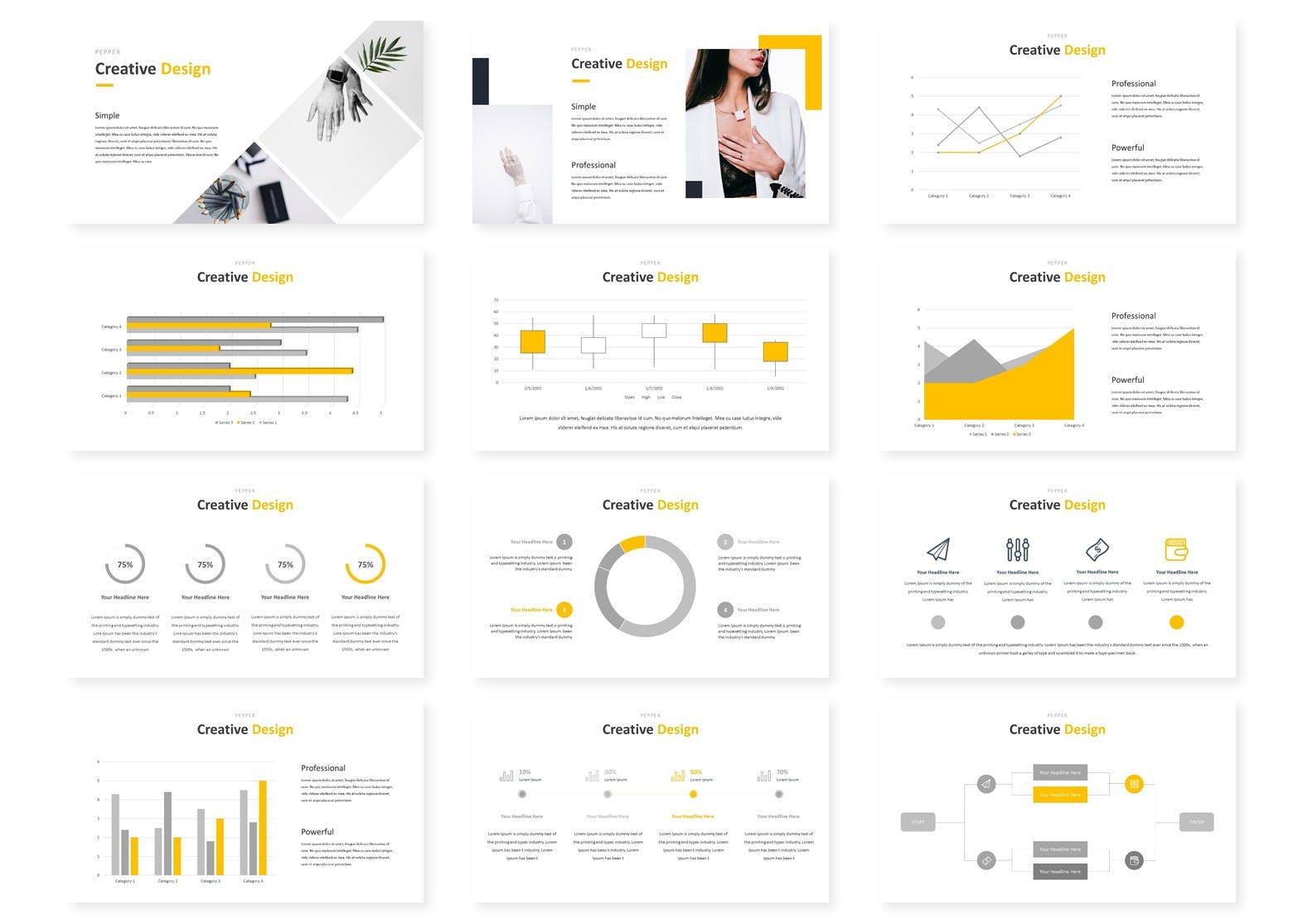 多用途企业业务演示PPT幻灯片模板下载Pepper Google Slides Template插图(2)