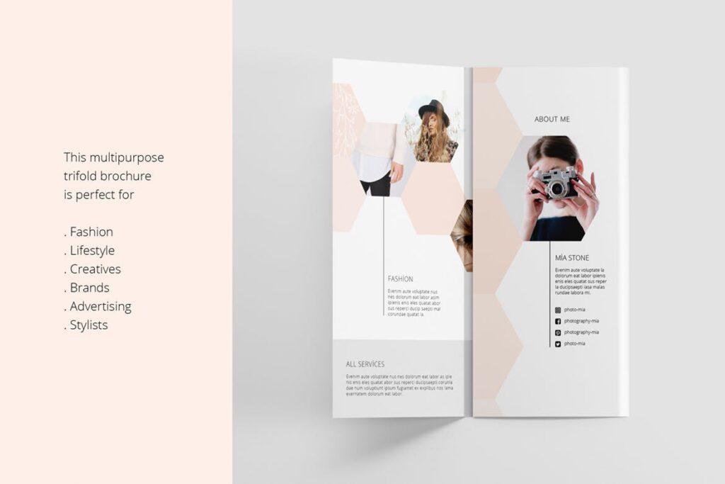 企业多功能组合小册子模板素材Portfolio Trifold Flyer插图(2)