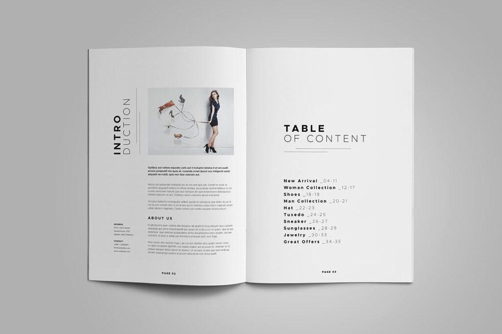 时尚服装/产品目录画册模板Product Catalog Template插图(2)