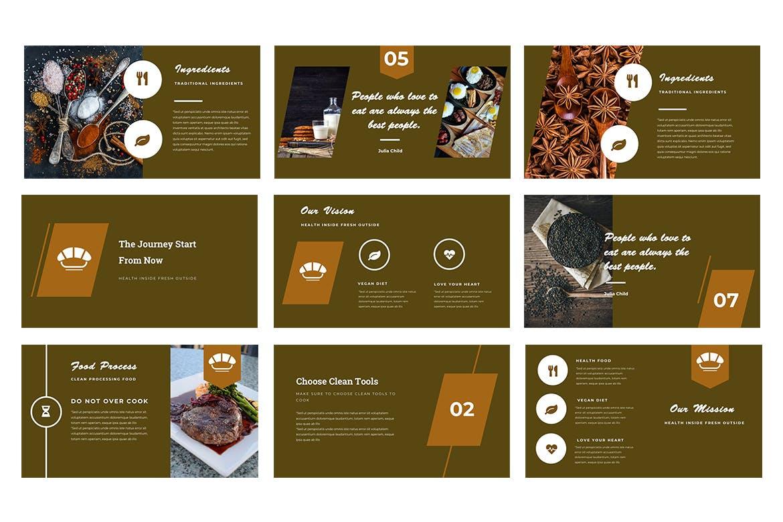 美食餐饮类幻灯片文稿展示Resto Powerpoint Presentation插图(2)