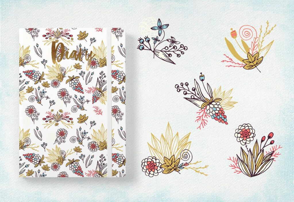 品牌墙纸花卉装饰图案花纹抱枕装饰图案Simply Flowers插图(2)