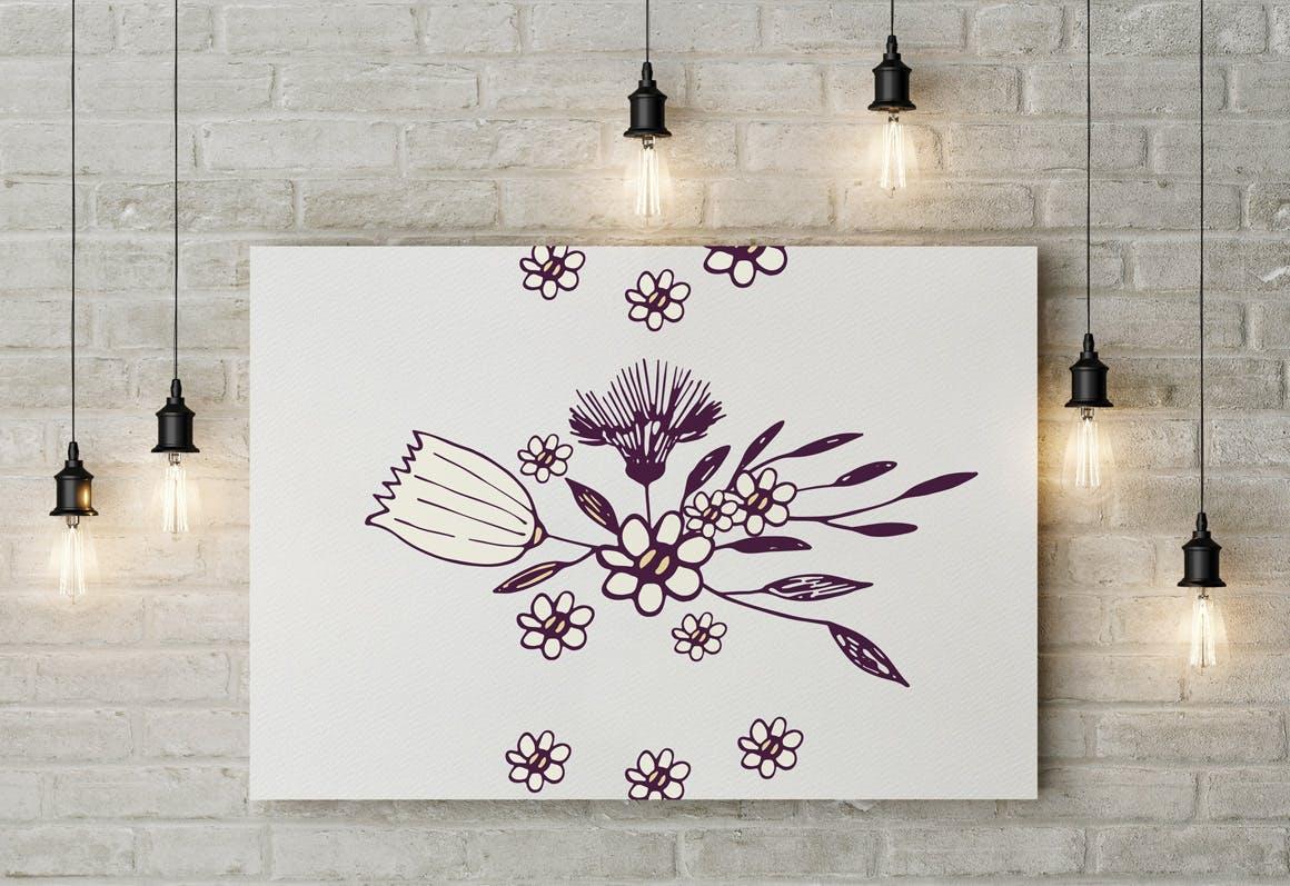 素雅植物图案花纹纹理素材展示Sketch Flowers插图(2)
