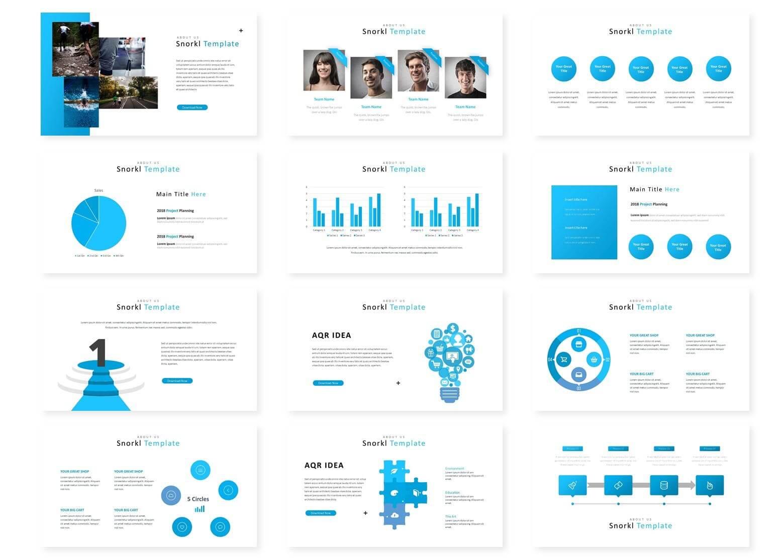 产品业务销售数据介绍类PPT模板下载Snorkl Google Slides Template插图(2)