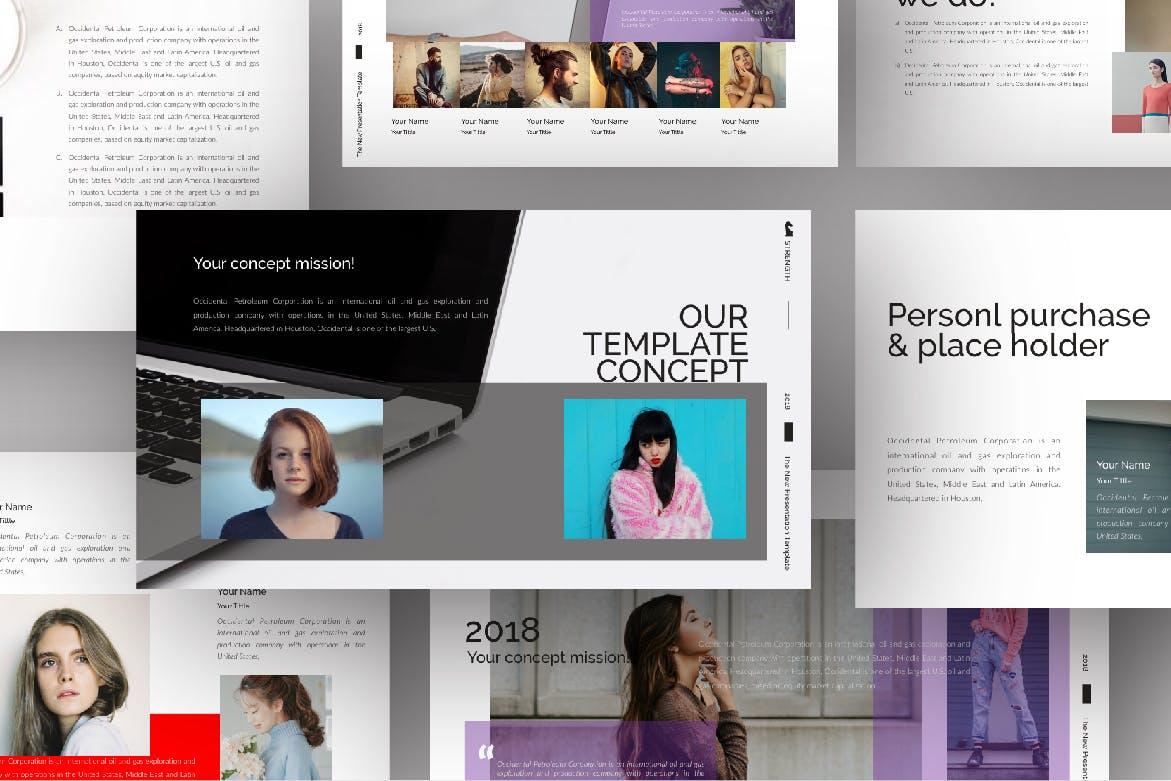 青春服装展览演示文稿模版trenght White Google Slide插图(2)