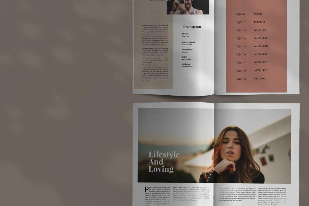 设计师工作室内设计目录/产品目录画册模板Styling Fashioned Brochure插图(2)