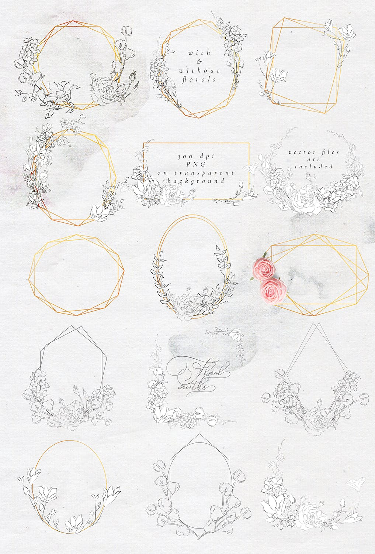 微妙优雅画花卉和图案素材下载Subtle Beauty Graphic Collection插图(7)