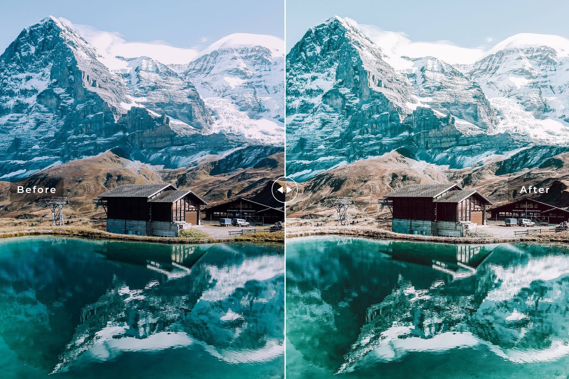 冬天色调冷色系照片效果处理LR预设Switzerland Mobile Desktop Lightroom Presets插图(2)