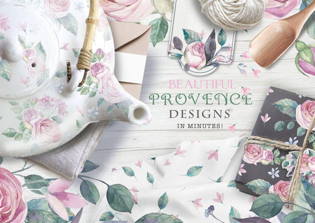 企业品牌装饰图案花卉/花圈/装饰图案The garden roses插图(2)