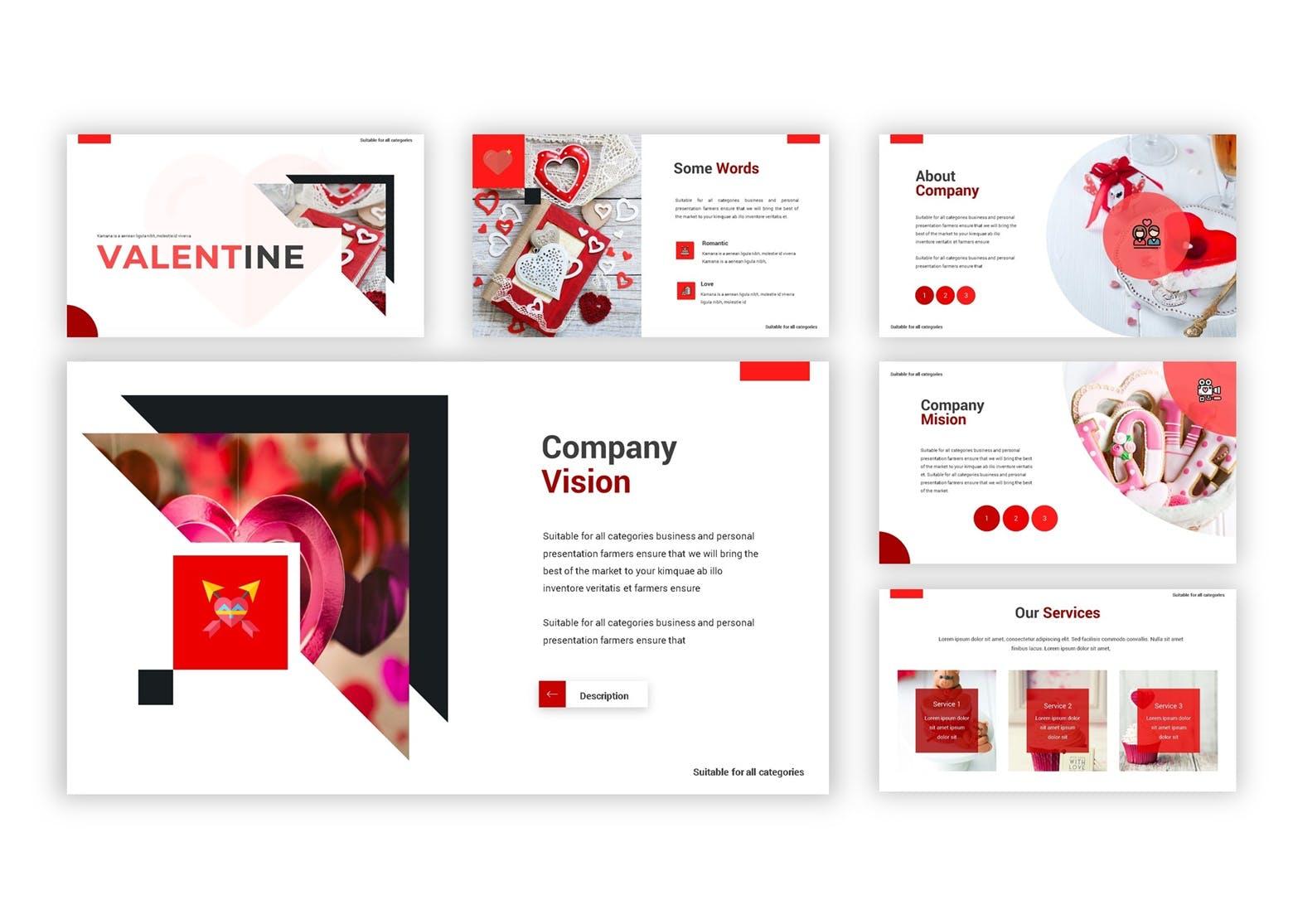 产品市场调研数据集PPT幻灯片模板下载Valentine Google Slides Template插图(2)